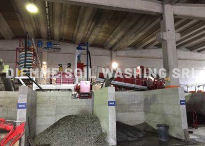 Installations de traitement des déchets de  balayage routier et des sables d'égout