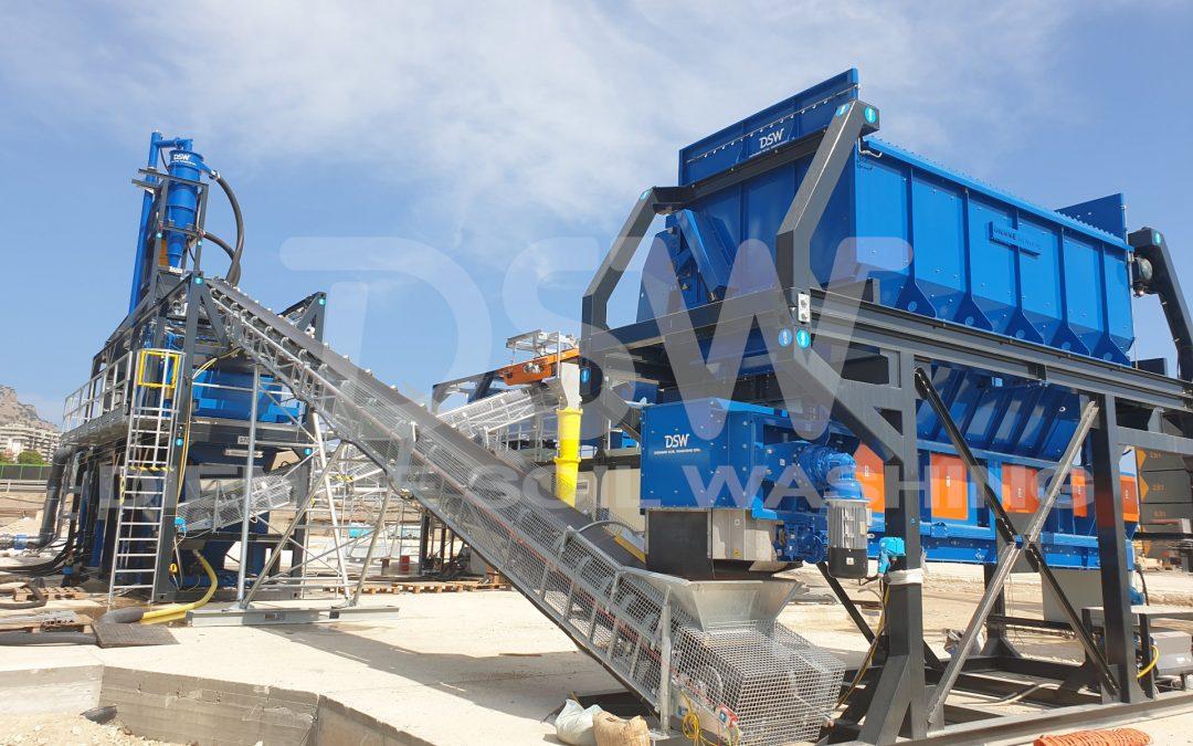 Impianto mobile di Soil Washing per sedimenti marini