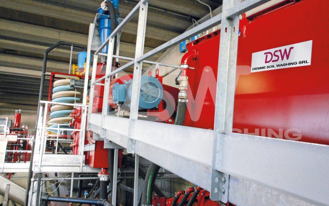 Impianto stazionario di Soil Washing per spazzatura stradale e sabbie fognarie