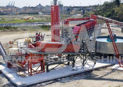 Impianto stazionario di Soil Washing per idrocarburi
