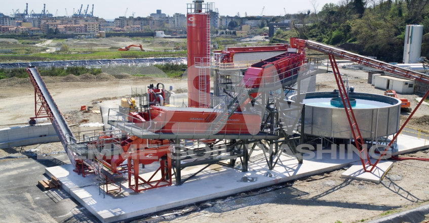 Installation stationnaire Soil Washing pour les hydrocarbures