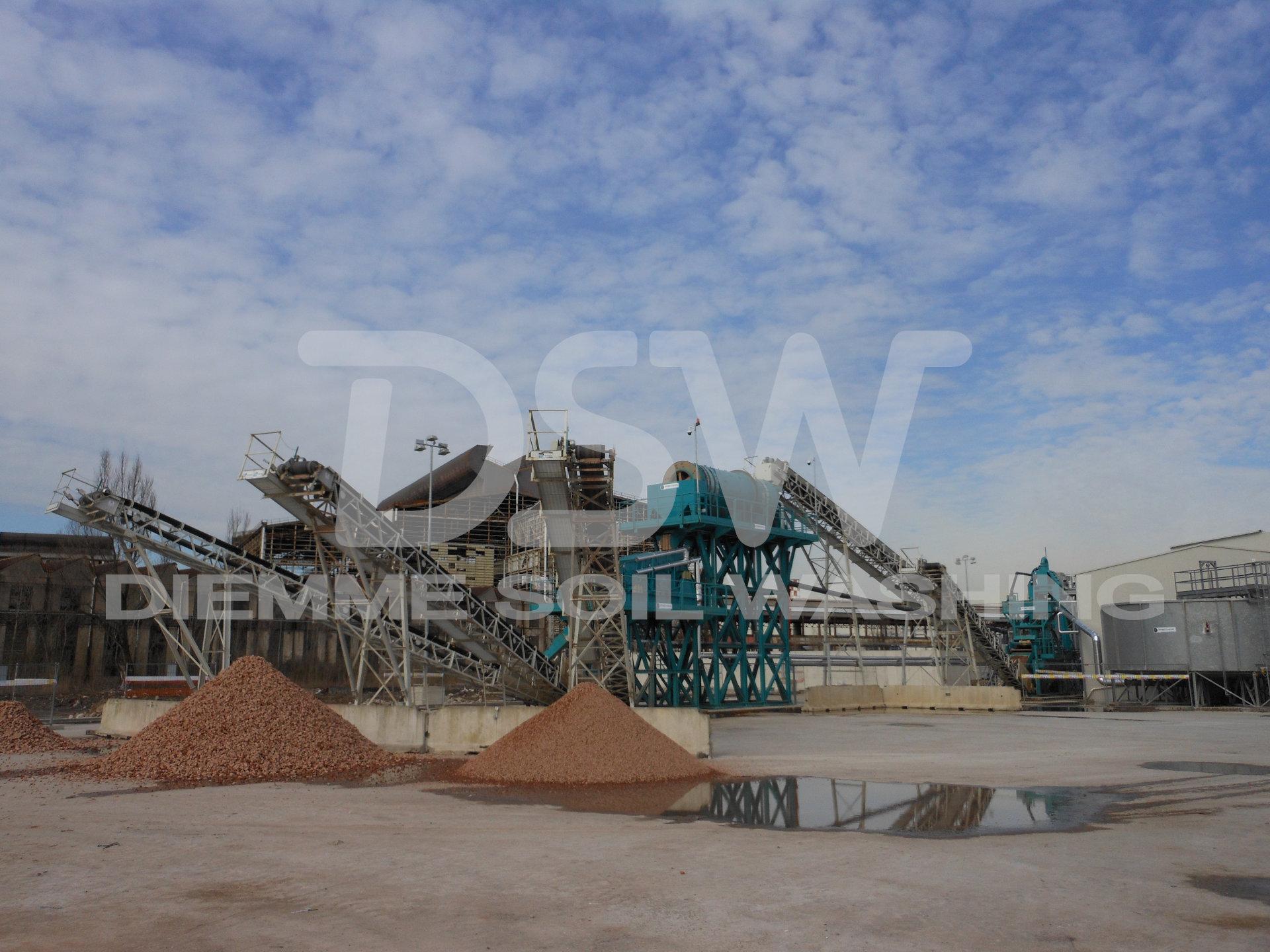Installation stationnaire Soil Washing pour métaux lourds
